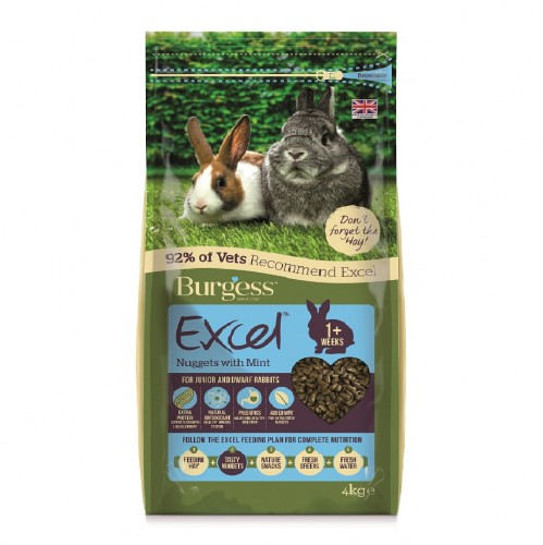EXCEL JUNIOR & DWARF RABBIT NUGGETS WITH MINT 4kg.jpg